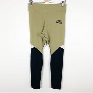 Nike Air Sportswear Leggings Color Block Olive